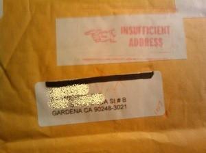 Insufficient Address